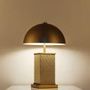 Modernism Bowl Reading Light Metal 2 Bulbs Small Desk Lamp in Gold for Living Room