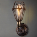 Antique Copper  Finish Warehouse Industrial LED Wall Light