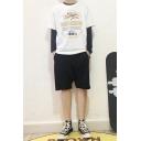 Trendy Girls Short Sleeve Crew Neck Letter KIRIN BEER Graphic Relaxed Fit T Shirt in White
