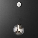 Glass Globe Wall Sconce Lighting Industrial Single Suspender Wall Lighting 8