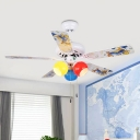 Colorful Glass Ball Flush Lighting Kids Living Room 42