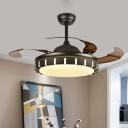 Metal Round Semi Flushmount Minimalist Living Room 36