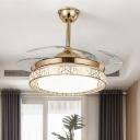 Metal Circular Pendant Fan Lamp Modernism 42