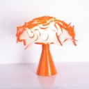 Modernist LED Task Light Orange Flower Night Table Lamp with Acrylic Shade for Bedroom