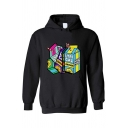 Korean Girls Long Sleeve Letter LYRL CAL Juice Graphic Pouch Pocket Relaxed Hoodie