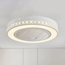 Metal White Flush Mount Light Ring 21.5