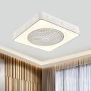 Modernism Round/Square Ceiling Fan Light LED 21.5