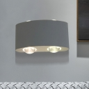Aluminum Arc Rectangle Wall Light Modernist LED White Wall Mount Sconce in White/Warm Light