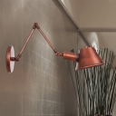 Rust 1-Head Sconce Lamp Farmhouse Iron Bell Wall Mount Light with 6