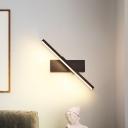 Acrylic Slim Linear Wall Mount Sconce Minimalist White/Black LED Wall Lighting in Warm/White Light