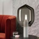 Jar Desk Light Contemporary Smoke Gray Glass 1 Head Living Room Night Table Lamp