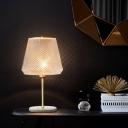 Cone Task Lighting Modern Clear Lattice Glass 1 Bulb Gold Reading Lamp, 5.5