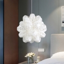 Blossom Acrylic Hanging Ceiling Light Modern 1 Light White Finish Suspended Pendant Lamp