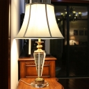 1 Bulb Tapered Nightstand Lamp Modernist Clear Crystal Reading Book Light in Blue