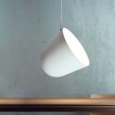 Dome Hanging Light Fixture Modern Aluminum 1 Light Matte White Pendant Ceiling Lamp