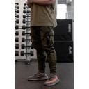 Cool Popular Training Boys Drawstring Waist Flap Pockets Cuffed Carrot Fit Sweatpants