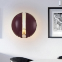 Nordic Dome Shade Wall Mounted Lamp 1 Bulb Dining Room Wall Sconce Light in Purple