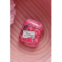 Anime Spirited Away Japanese Letter All Over Floral Printed Airpods Case in Pink
