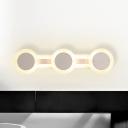 Modernist Round Wall Vanity Light Acrylic 16
