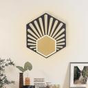 Black Hexagon LED Wall Mount Lamp Modernist 1 Head 8