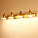 Urn Metal Wall Mounted Vanity Light Modernism 4 Heads Brass Finish LED Sconce Lamp in White/Warm Light
