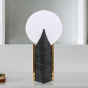 Black Spherical Nightstand Lamp Nordic Style 1-Bulb Acrylic Night Lighting for Living Room