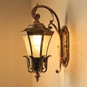 Curving Passage Wall Sconce Lighting Lodges Metallic 1 Head Dark Coffee Wall Mounted Lamp