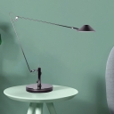 Metal Black Finish Desk Lighting Cone LED Industrial Reading Lamp with Adjustable Long Arm