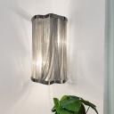 Metallic Cylinder Wall Lighting Ideas Modernism 1 Head Silver Finish Wall Sconce Light
