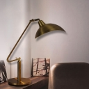 Industrial Domed Task Light LED Metallic Reading Book Lamp in Black/Bronze for Living Room