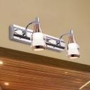 Metallic Linear Vanity Light Fixture Modernism 2/3 Lights 12