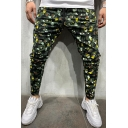 Fashionable Boys Drawstring Waist Leopard Print Ankle Length Relaxed Fit Pants