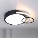 Metal Round Flushmount Lighting Modernist 16.5