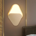 Triangle Flush Wall Sconce Modernism Iron LED Bedside Wall Mounted Light in Gold with Rotatable Design