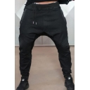 Cool Boys Drawstring Waist Color Block Patchwork Cuffed Relaxed Sweatpants