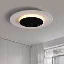 Flying Saucer Ceiling Light Fixture Simplistic Aluminum Green/Pink/White LED Flush Mount Lamp for Corridor in Warm/White Light