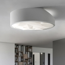 Simplistic Circular Flush Mount Lamp Acrylic Living Room LED Ceiling Mount Lighting in White, 17