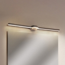 Black Slim Line Vanity Wall Light Minimalist LED Acrylic Wall Mount Sconce in White/Warm Light, 16
