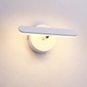 Linear Wall Mount Light Simple Metal LED White Vanity Lighting Ideas in Natural/Warm Light for Bathroom