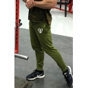 Leisure Fitness Mens Drawstring Waist Patterned Cuffed Ankle Length Relaxed Sweatpants