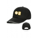 Fashionable Cool Letter JOJO'S Geo Hand Printed Contrast Piped Baseball Cap
