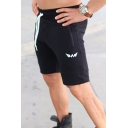 Basic Training Street Guys Drawstring Waist Logo Printed Fitted Shorts