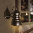 Metal Black Finish Wall Lighting Bell 1-Light Farmhouse Wall Mount Sconce with Rotatable Node