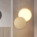 Gold Finish Circular Flush Wall Sconce Modern Metallic LED Rotatable Wall Mounted Light