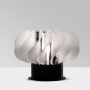 Spiral Shaped Night Light Simple Style Acrylic Living Room LED Table Lighting in White