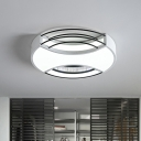 Nordic Round Flush Mount Light Metal 18