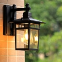 Clear Glass Cuboid Sconce Lodges 8.5