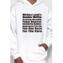 Korean Style Mens Long Sleeve Drawstring Painting Letter Graphic Pouch Pocket Oversize Hoodie in White