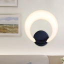 Acrylic Crescent Moon Shape Sconce Modern Nordic Style LED Wall Mounted Light in White/Black