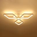 Rhombus Acrylic Flush Ceiling Light Modernism 20